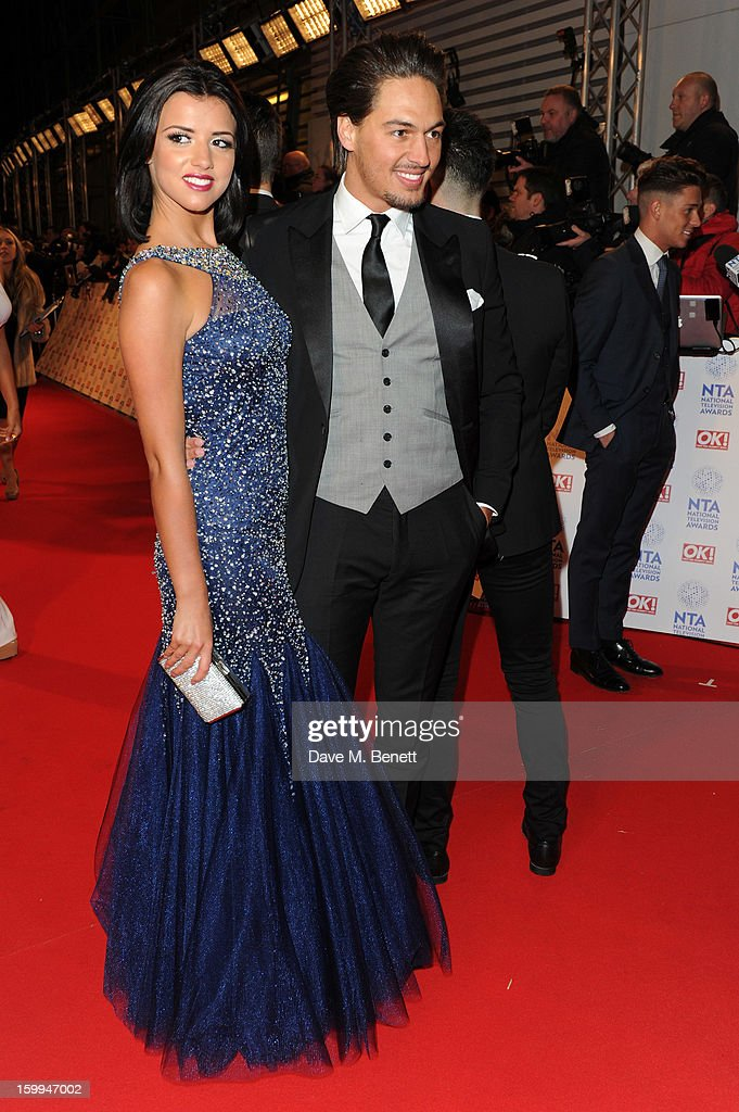 Lucy Mecklenburgh and Mario Falcone attends the the National Television Awards at 02 Arena on January 23, 2013 in London, England.