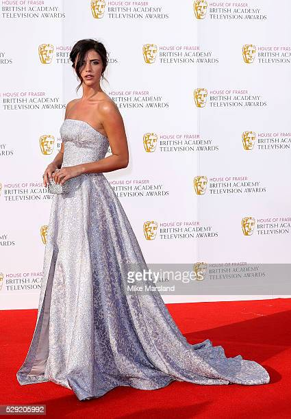 Lucy Mecklenburgh arrives for the House Of Fraser British Academy Television Awards 2016 at the Royal Festival Hall on May 8 2016 in London England