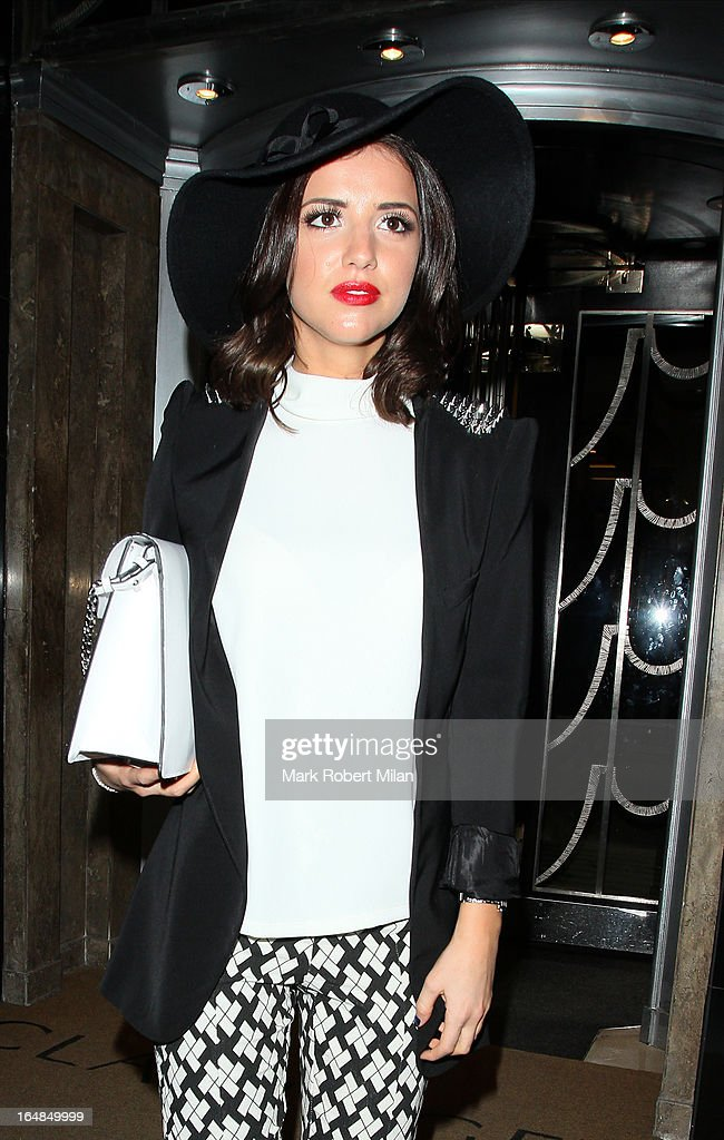 Lucy Mecklenburgh at Claridges Hotel on March 28, 2013 in London, England.