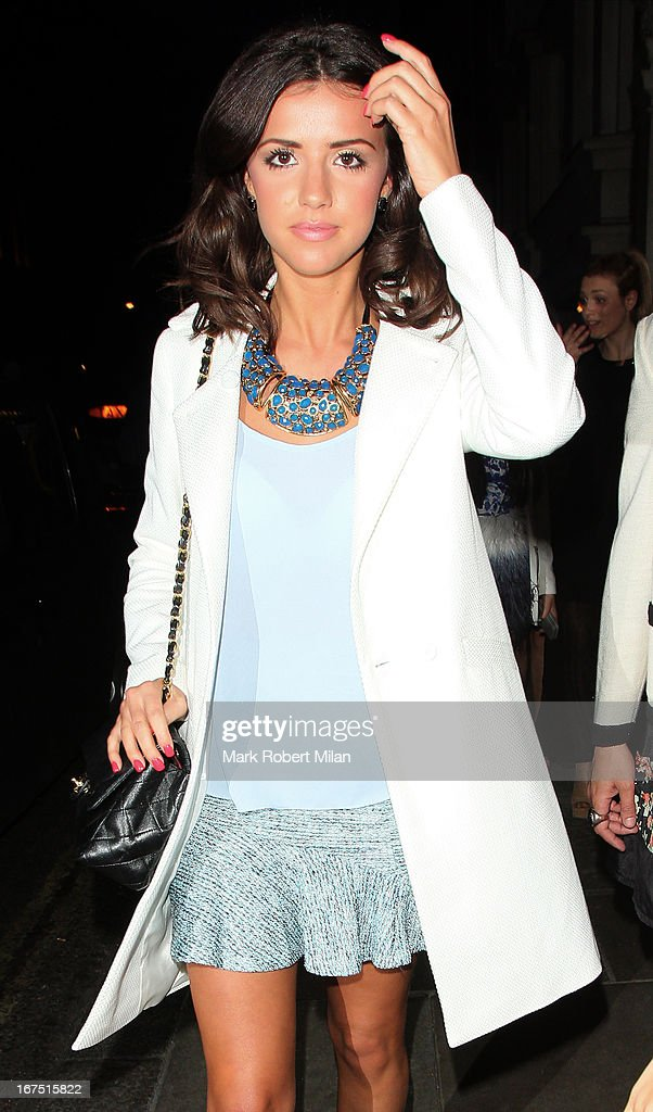 Lucy Mecklenburgh at Nobu restaurant on April 25, 2013 in London, England.
