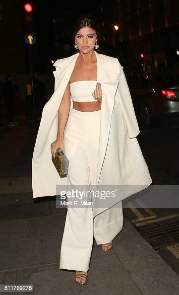 Lucy Mecklenburgh attending the JF London a/w1617 presentation and party at the W hotel on February 22 2016 in London England