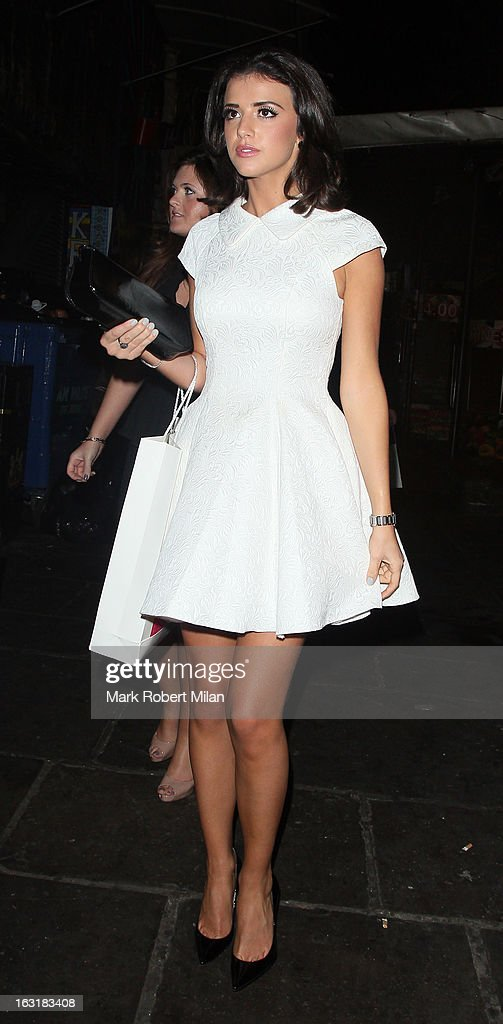Lucy Mecklenburgh attending the new! magazine 10th birthday party at Gilgamesh restaurant on March 5, 2013 in London, England.