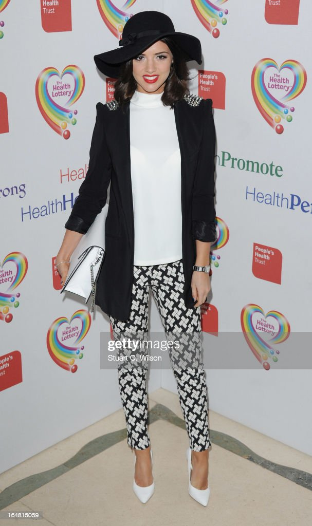 Lucy Mecklenburgh attends a fundraising event in aid of The Health Lottery hosted by Simon Cowell at Claridges Hotel on March 28, 2013 in London, England.