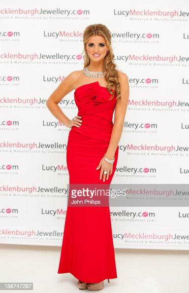 Lucy Mecklenburgh attends a photocall to launch her new Jewellery range at The Worx on November 20 2012 in London England
