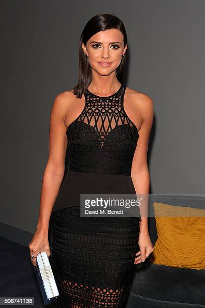 Lucy Mecklenburgh attends a VIP screening of 'Eating Happiness' in association with the World Dog Alliance at The Mondrian Hotel on January 25 2016...