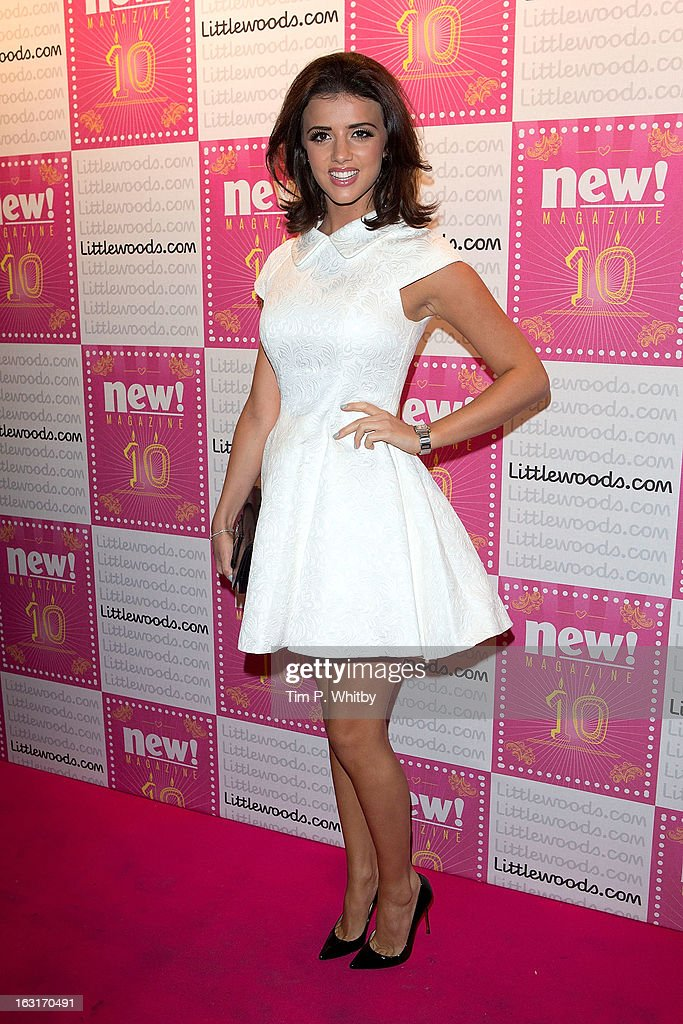Lucy Mecklenburgh attends New Magazine Celebrates 10 years in print at Gilgamesh on March 5, 2013 in London, England.
