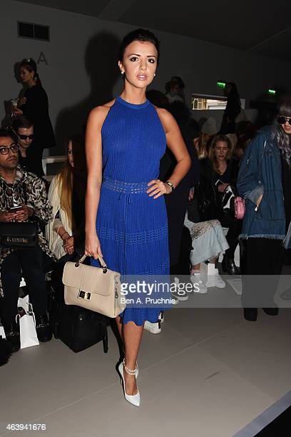 Lucy Mecklenburgh attends the Bora Aksu show during London Fashion Week Fall/Winter 2015/16 at on February 20 2015 in London England
