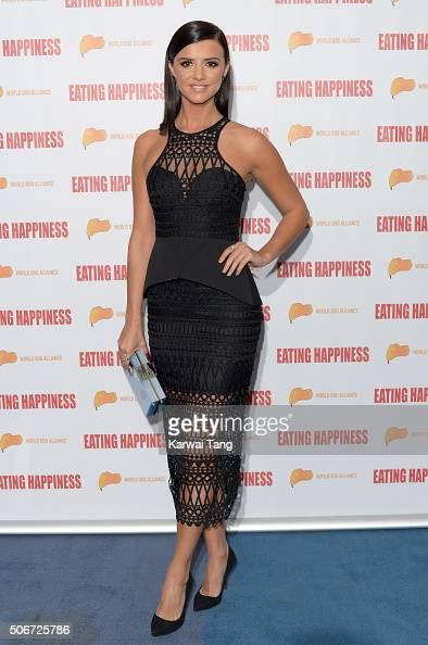 Lucy Mecklenburgh attends the 'Eating Happiness' VIP screening at the Mondrian Hotel on January 25 2016 in London England