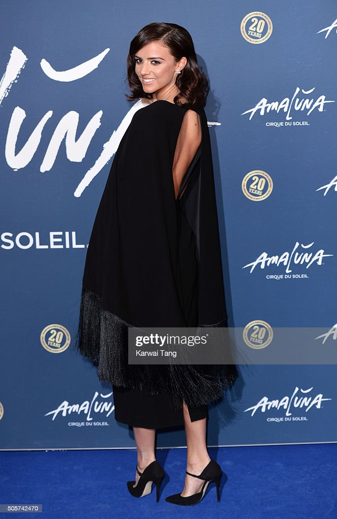 Lucy Mecklenburgh attends the Red Carpet arrivals for Cirque Du Soleil Amaluna at Royal Albert Hall on January 19, 2016 in London, England.