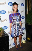Lucy Mecklenburgh attends the Union J Fragrance Launch at The Sanctum Hotel on September 24 2014 in London England