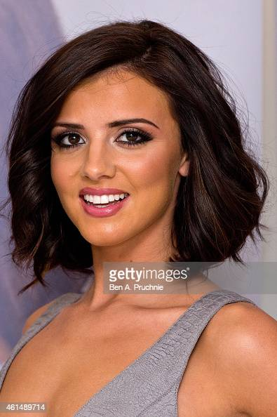 Lucy Mecklenburgh gives an exercise demonstration to launch her new book 'Be Body Beautiful' at Penguin Books on January 13 2015 in London England