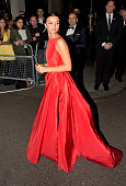 Lucy Mecklenburgh is seen arriving at the Grosvenor hotel Park Lane on May 10 2015 in London England