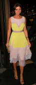 Lucy Mecklenburgh leaving Novikov restaurant on April 23 2014 in London England