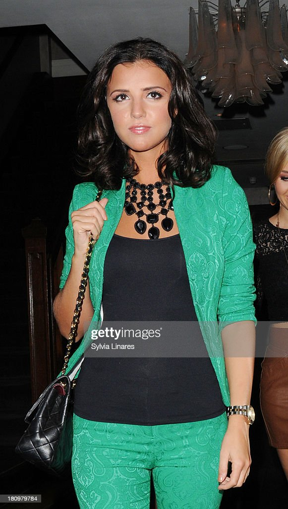 Lucy Mecklenburgh leaving Sanctum Hotel on September 18, 2013 in London, England.