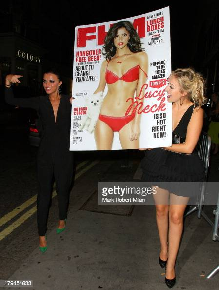 Lucy Mecklenburgh leaving Whisky Mist night club on September 3 2013 in London England
