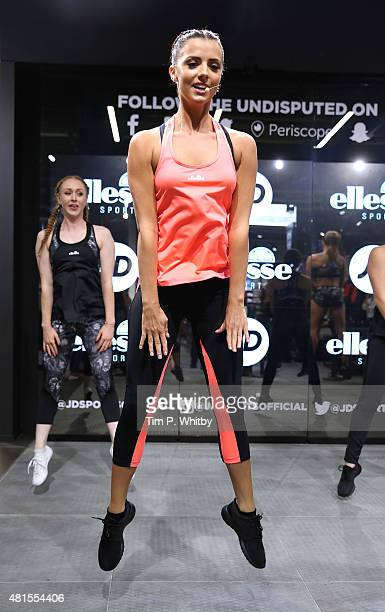 Lucy Mecklenburgh makes an Instore appearance at JD Sports on July 22 2015 in London England
