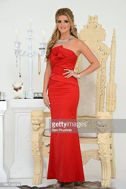 Lucy Mecklenburgh poses for photographs at the launch of her debut jewellery collection at The Worx on November 20 2012 in London England