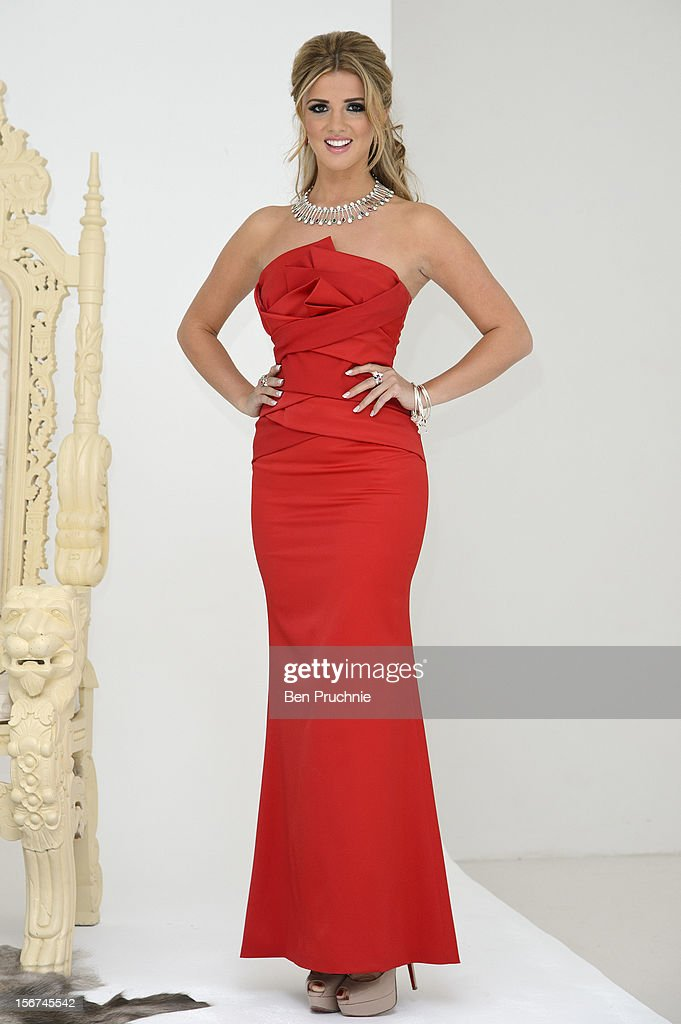 Lucy Mecklenburgh poses for photographs at the launch of her debut jewellery collection at The Worx on November 20, 2012 in London, England.