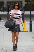 Lucy Mecklenburgh seen at BBC Radio One on September 11 2014 in London England