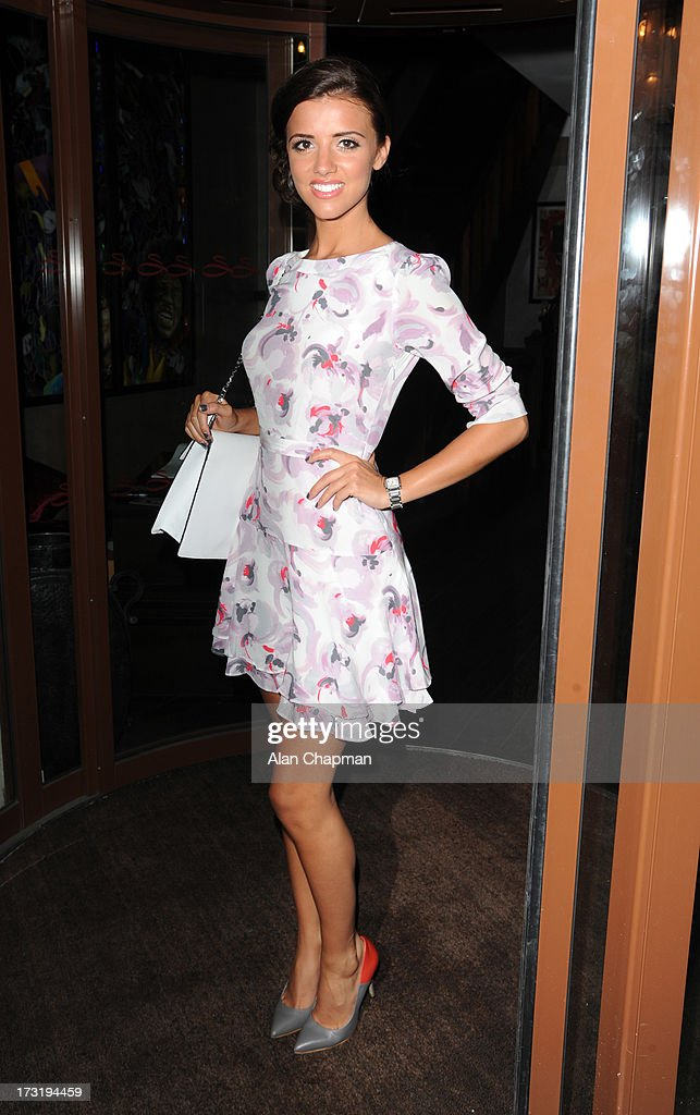 Lucy Mecklenburgh sighting at the Easilocks launch Soho Sanctum Hotel on July 9, 2013 in London, England.