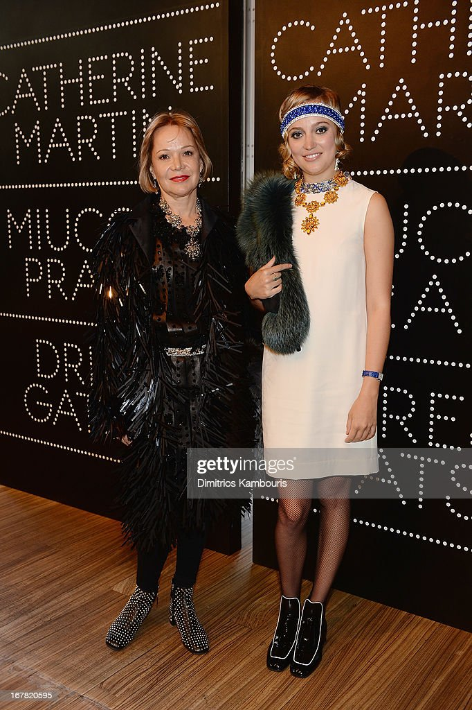 Lucy Mitchell-Innes (L) and Josephine Nash attend Catherine Martin And Miuccia Prada Dress Gatsby Opening Cocktail on April 30, 2013 in New York City.
