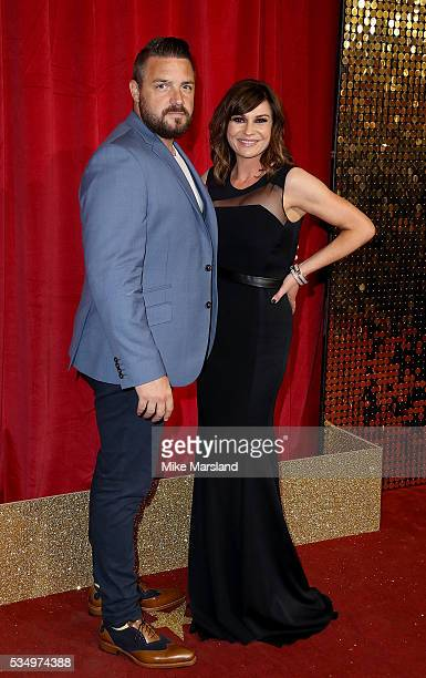 Lucy Pargeter and Rudi Coleano attend the British Soap Awards 2016 at Hackney Empire on May 28 2016 in London England