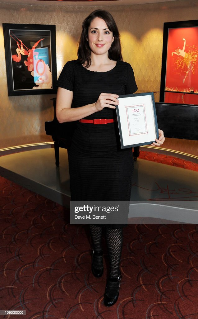 Lucy Prebble, winner of Best New Play for 'The Effect', attends the 2013 Critics' Circle Theatre Awards at the Prince Of Wales Theatre on January 15, 2013 in London, England.