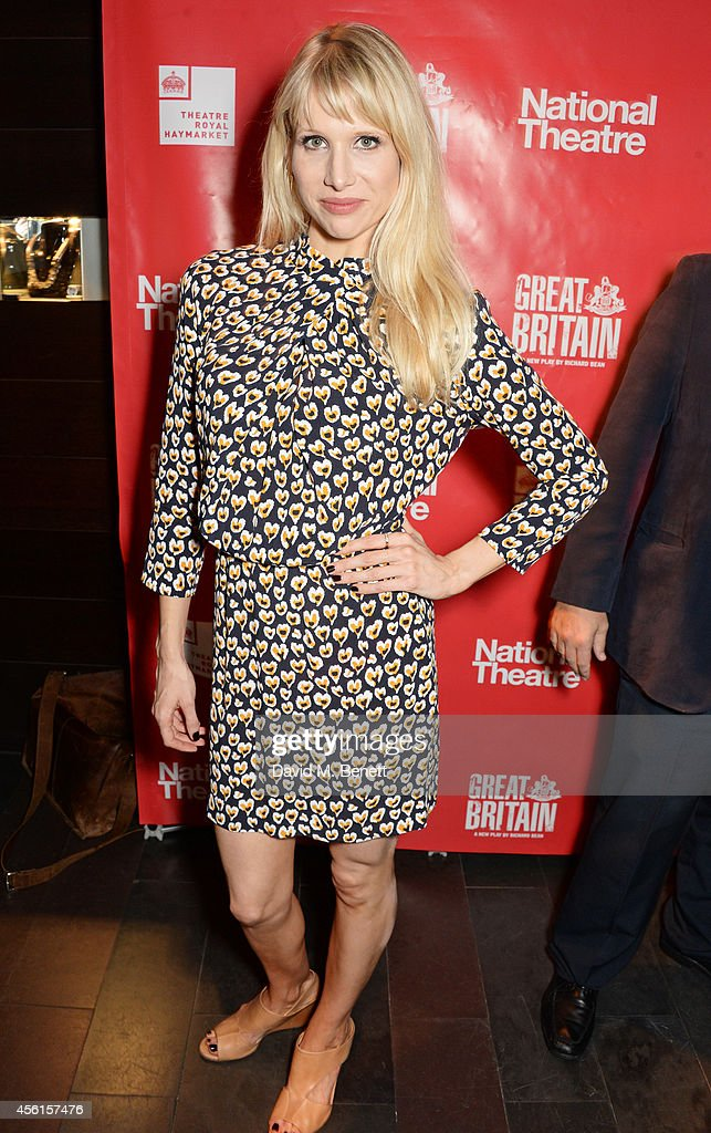 Lucy Punch attends the press night performance of 'Great Britain' following its transfer to the Theatre Royal Haymarket at Mint Leaf on September 26, 2014 in London, England.
