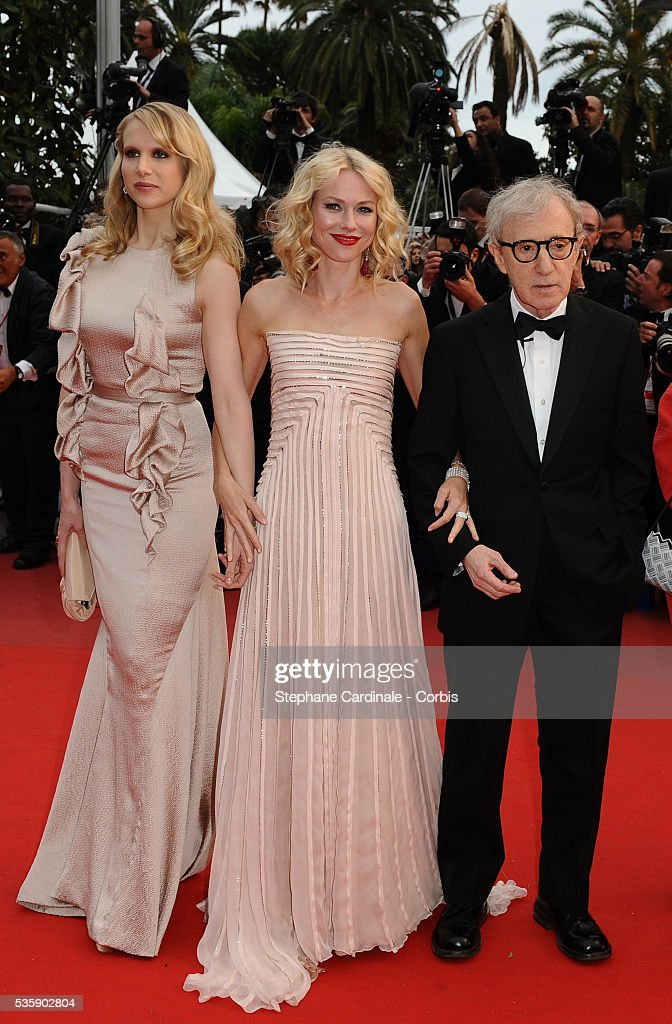 Lucy Punch, Naomi Watts and Woody Allen at the Premiere for 'You will meet a tall dark stranger' during the 63rd Cannes International Film Festival.