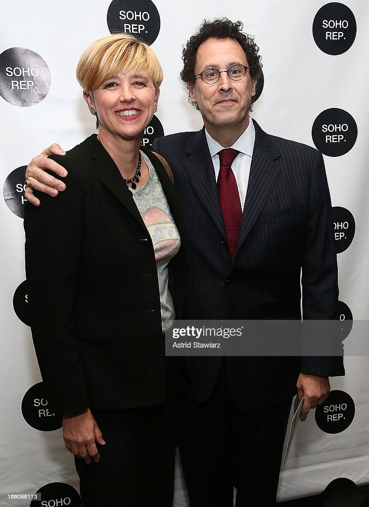 Lucy Sexton and <a gi-track='captionPersonalityLinkClicked' href=/galleries/search?phrase=Tony+Kushner&family=editorial&specificpeople=209161 ng-click='$event.stopPropagation()'>Tony Kushner</a> attend Soho Rep's 2013 Spring Gala on April 8, 2013 in New York City.