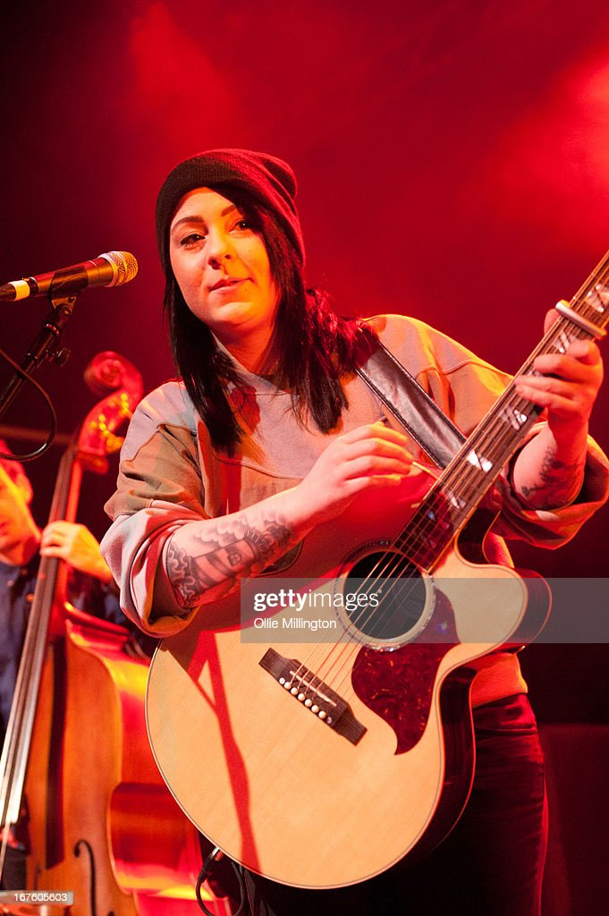 Lucy Spraggan performs on stage during the second night of her sold out April/May 2013 UK tour at o2 Academy on April 26, 2013 in Leicester, England.