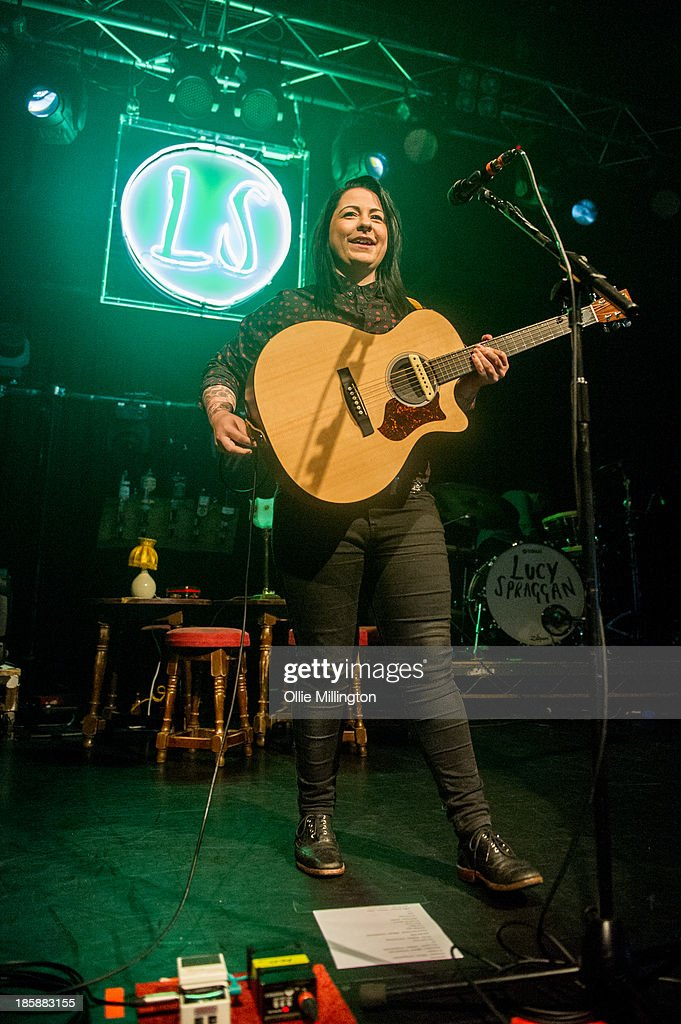 Lucy Spraggan performs onstage during a night of her October November 2013 Tour at O2 Academy Leicester on October 25, 2013 in Leicester, England.
