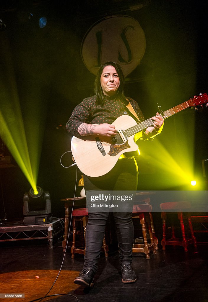 <a gi-track='captionPersonalityLinkClicked' href=/galleries/search?phrase=Lucy+Spraggan&family=editorial&specificpeople=7993913 ng-click='$event.stopPropagation()'>Lucy Spraggan</a> performs onstage during a night of her October November 2013 Tour at O2 Academy Leicester on October 25, 2013 in Leicester, England.