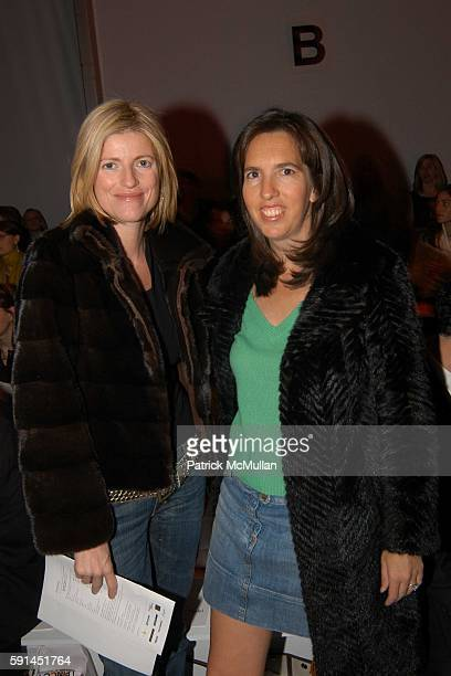 Lucy Sykes Rellie and Liz Lange attend Child Magazine Fashion Show at The Atelier Tent at Bryant Park on February 7 2005 in New York City