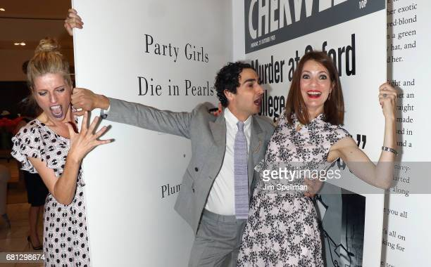 Lucy Sykes Rellie designer Zac Posen poses with writer Plum Sykes during her book launch celebration for 'Party Girls Die In Pearls' at Brooks...