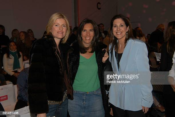 Lucy Sykes Rellie Liz Lange and Miriam Arond attend Child Magazine Fashion Show at The Atelier Tent at Bryant Park on February 7 2005 in New York City