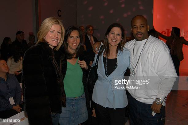 Lucy Sykes Rellie Liz Lange Miriam Arond and Damon Dash attend Child Magazine Fashion Show at The Atelier Tent at Bryant Park on February 7 2005 in...