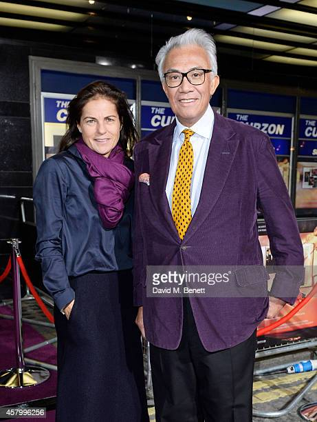 Lucy Tang and Sir David Tang attend the screening of the new Annabel's DocuFilm 'A String of Naked Lightbulbs' at The Curzon Mayfair on October 28...
