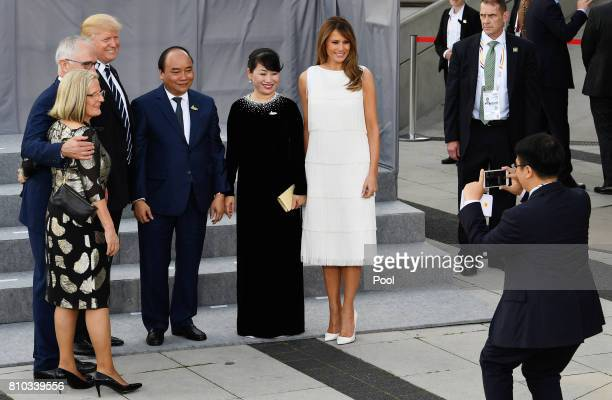 Lucy Turnbull and her husband Australian Prime Minister Malcolm Turnbull US President Donald Trump Vietnamese Prime Minister Nguyen Xuan Phuc and his...