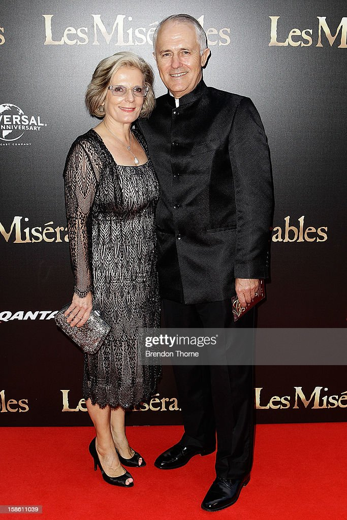 Lucy Turnbull and Malcolm Turnbull walk the red carpet during the Australian premiere of 'Les Miserables' at the State Theatre on December 21, 2012 in Sydney, Australia.
