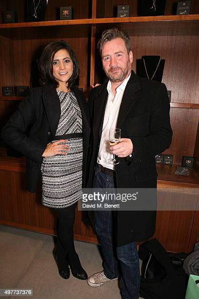 Lucy Verasamy and Julian Marshall attend the launch of Rachel Howard's Humble Hanger jewellery collection launch in collaboration with True Rocks at...