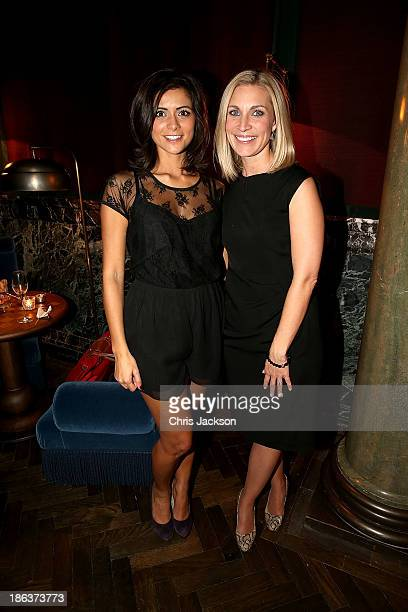 Lucy Verasamy and Sarah Hewson attend the opening of Rosewood London on October 30 2013 in London England