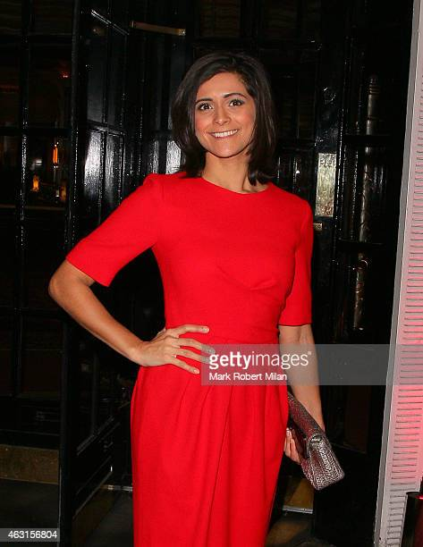Lucy Verasamy attend the inaugural Roll Out The Red Ball in aid of the British Heart Foundation at The Park Lane Hotel on February 10 2015 in London...