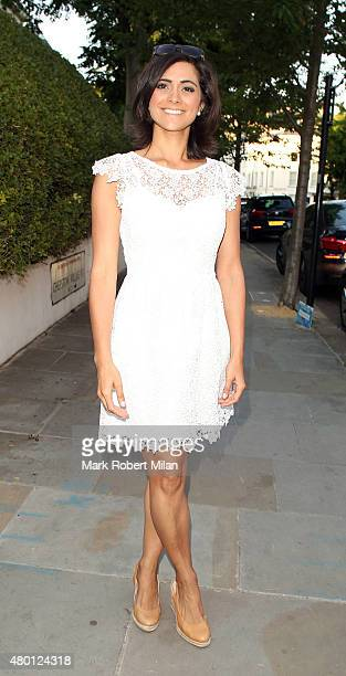 Lucy Verasamy attending the ITV summer party in Notting Hil on July 9 2015 in London England