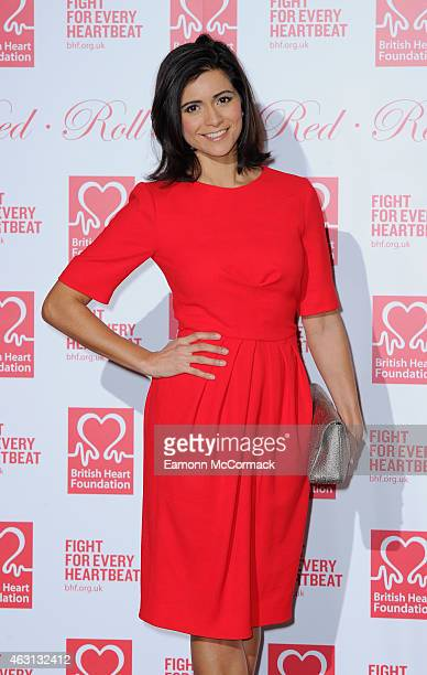 Lucy Verasamy attends the British Heart Foundation's Roll Out The Red Ball at Park Lane Hotel on February 10 2015 in London England