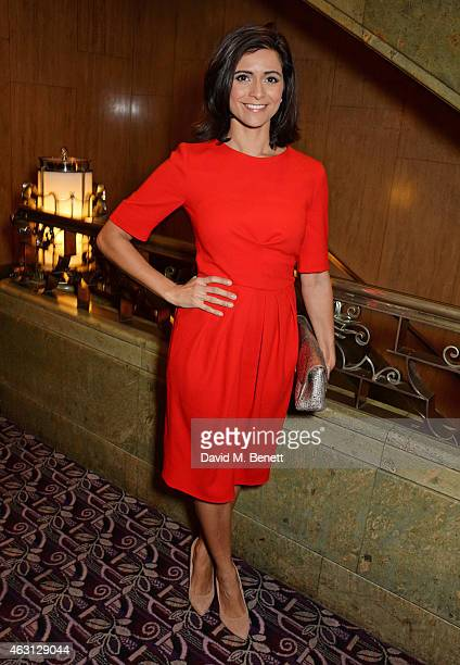 Lucy Verasamy attends the inaugural Roll Out The Red Ball in aid of the British Heart Foundation at The Park Lane Hotel on February 10 2015 in London...