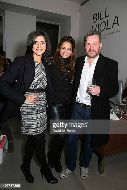 Lucy Verasamy Katy Wickremesinghe and Julian Marshall attend the launch of Rachel Howard's Humble Hanger jewellery collection launch in collaboration...