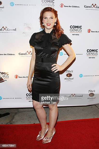 Lucy Walsh arrives at the Save The Children Foundation celebrates Comic Genius Portraits of Funny People held at Bergamot Station on November 18 2013...