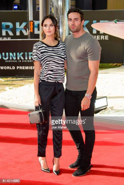 Lucy Watson and James Dunmore arriving at the 'Dunkirk' World Premiere at Odeon Leicester Square on July 13 2017 in London England