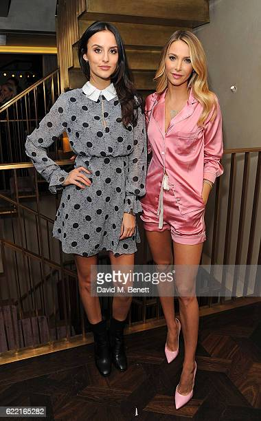 Lucy Watson and Sophie Hermann attend 5 Years of Gazelli SkinCare on November 10 2016 in London England